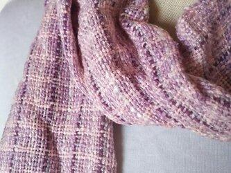 上質シルクの手織りミニストール 111の画像