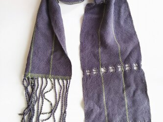UV防止 手織りシルクコットンミニストール 331の画像