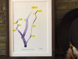 ゆる絵 Shape of twigs  A4 + 額の画像