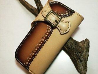手染め手縫い仕立ての長財布の画像