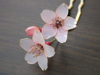 小さな桜の簪(かんざし)の画像