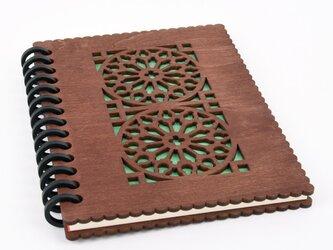 木の表紙のノートブックE カテドラル(木製ルーズリーフ)の画像