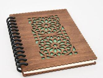 木のノートブックE カテドラル(木製ルーズリーフ)の画像