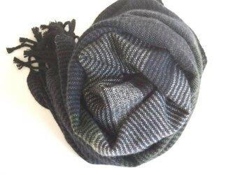 手織りカシミアストール・・黒etc.の画像