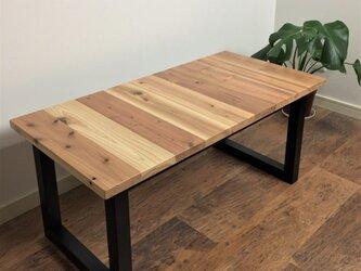 国産杉の無垢材を使ったローテーブル 45x90cm 横目 クリアー塗装 【オーダー可能】の画像