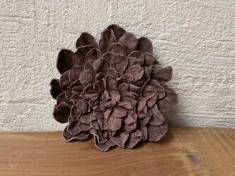 革花のブローチピン 3Lサイズ  モカの画像