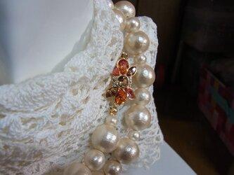コットンパールロング ネックレスの画像