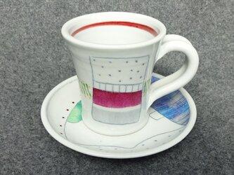 鉛筆柄カップ&ソーサーの画像