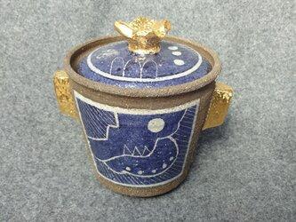 【好評】塩壺(ブルー)の画像