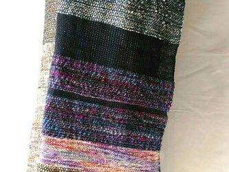 シルクの手織りストールの画像