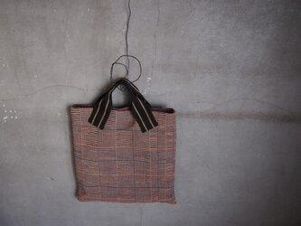 裂き織り/あじろ織りノマシカクカバン (+orimi)の画像