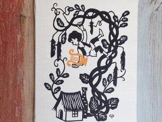 切り絵パネル「ジャックと豆の木」の画像