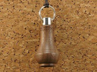 木製アロマペンダント・壺(ウオールナット)の画像