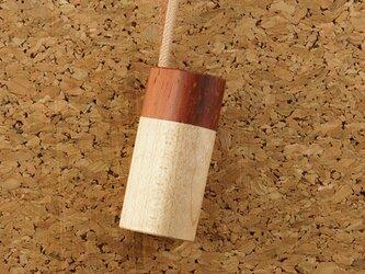 木製アロマペンダント・木製蓋タイプ(パドック+メープル)の画像