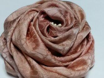 着物リメイク  正絹 コサージュ ピンクの画像