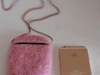 iPhoneポシェット cocoon(限定色・ピンク)Lサイズの画像