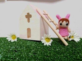 ピンクうさぎのトトちゃんの画像