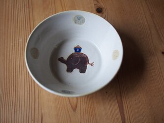 ゾウの深鉢の画像
