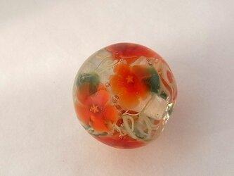 ミルフルール球・ハイビスカス・ガラス製・とんぼ球の画像