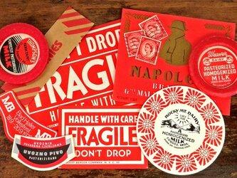 Vintage赤のコラージュセット DA-CO037の画像