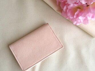 春色淡いピンクの名刺入れの画像
