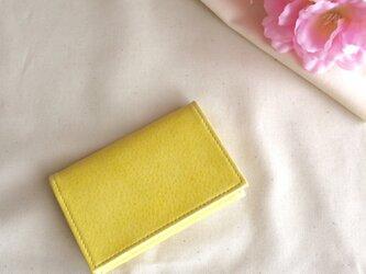 春色淡い黄色の名刺入れの画像
