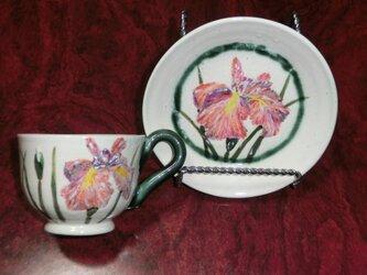 花菖蒲のカップ・ソーサの画像