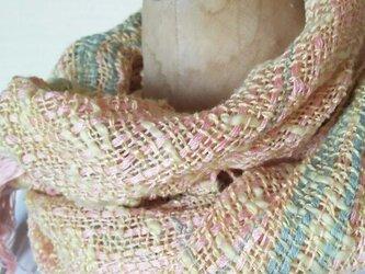 手織りコットンミニストール 336の画像
