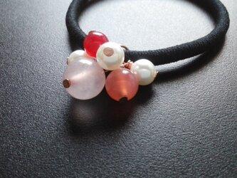 《桜色のヘアゴム》No.1  1個の画像