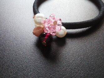 《桜色のヘアゴム》No.2  1個の画像