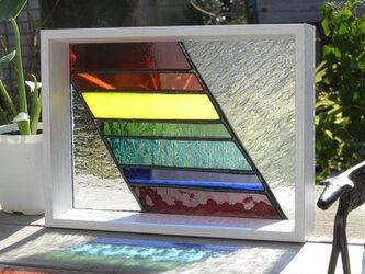 ステンドグラス パネル レインボーの画像
