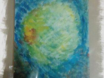 水面の月影の画像