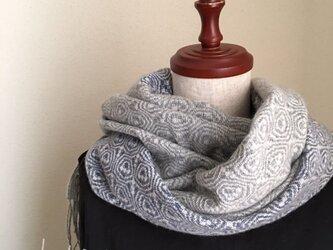 手織りカシミアミニストールの画像
