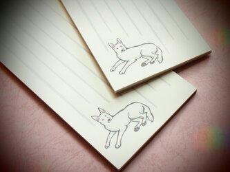 ホワイトシェパードの一筆箋(和紙タイプ)の画像