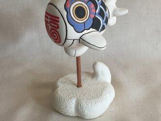 鯉のぼり メカ飛行船 青の画像