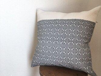 手織り クッションカバー 2トーングレーの画像