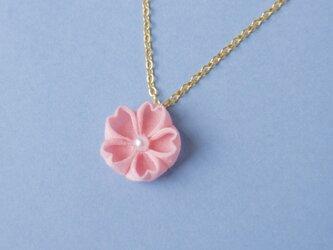 春うらら♫はんなり桜のネックレス ひと粒 つまみ細工の画像