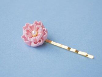 春うらら♫八重桜のヘアピン〈受注制作〉 つまみ細工の画像