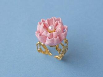 春うらら♫八重桜のリング〈受注制作〉 つまみ細工の画像