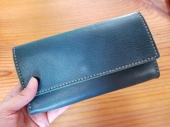 (選べる革、ステッチ)オリジナル長財布の画像