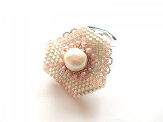 コットンパールのスカーフリング(ピンク)の画像