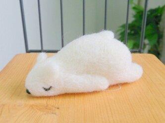シロクマだって眠いんです「たれしろくま」の画像