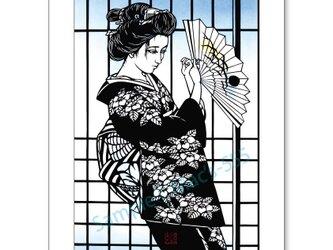 A4アートポスター・切り絵シリーズ「舞姫」の画像