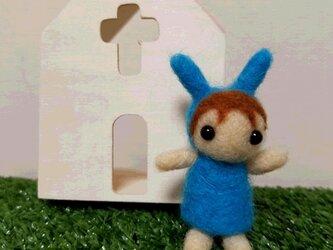青いうさぎのトトちゃんの画像