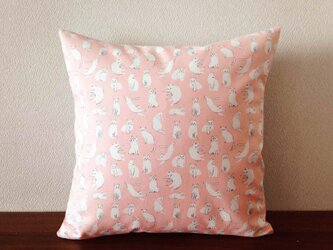 クッションカバー [44×44cm] きままな猫・ピンクの画像