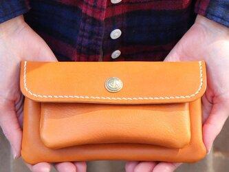 mare-wallet キャメル(杤木レザー財布)の画像