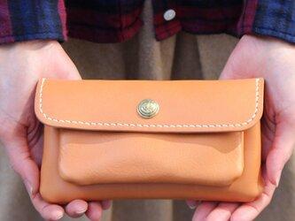 mare-wallet ナチュラル(杤木レザー財布)の画像