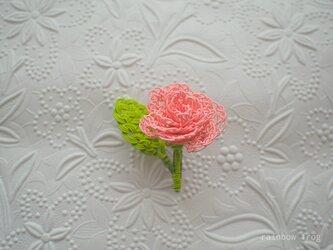 水引 バラのコサージュ(サーモンピンク)の画像