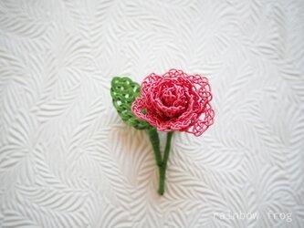 水引 バラのコサージュ(ローズピンク)の画像