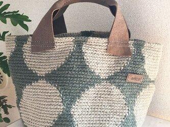 おおきな水玉バッグ ペールグリーンの画像